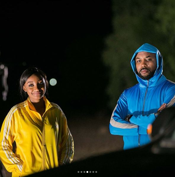 Banky W & Hausa Actress, Rahama Sadau, Pictured On Set Of 'Up North'