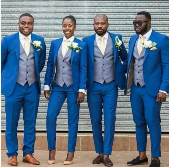 Beautiful Lady Joins The Groomsmen Squad Looking Enchanting (Photo)