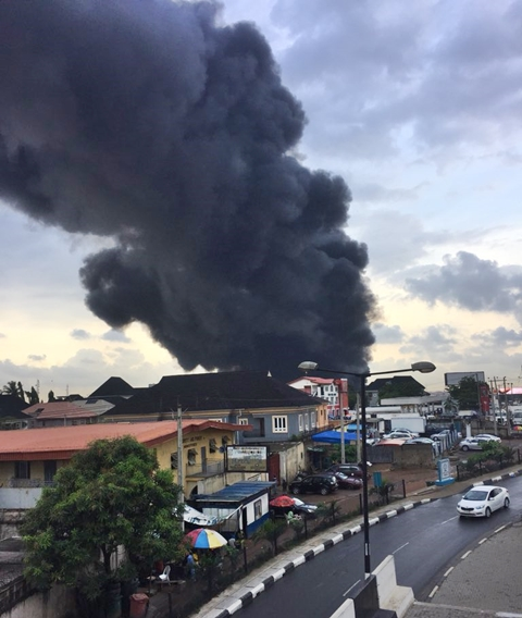 Fuel Tanker Explodes On Otedola Bridge In Berger Lagos (Photos+Video)