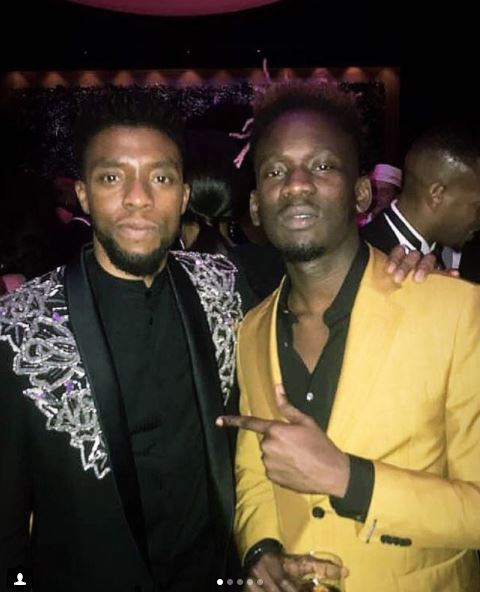 Wow! Photos Of Mr Eazi Posing With P. Diddy, Tyler Perry And 'Black Panther' Stars Go Viral