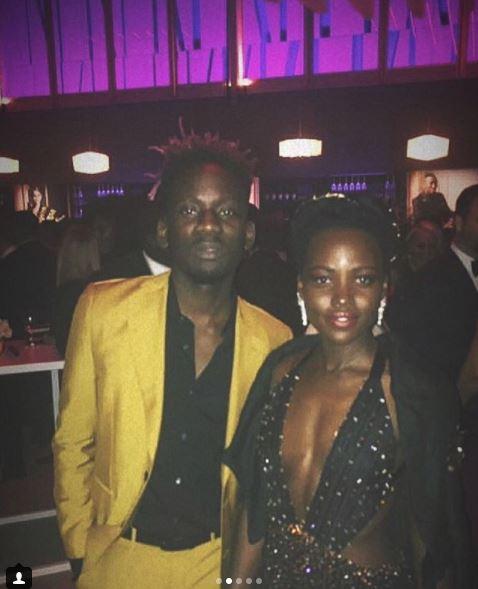 Mr Eazi with Lupita Nyong'o