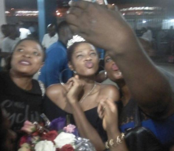 #BBNaija: Excitement As Fans Troop Out To Welcome Evicted Housemate, Ahneeka As She Arrives Lagos (Photos)