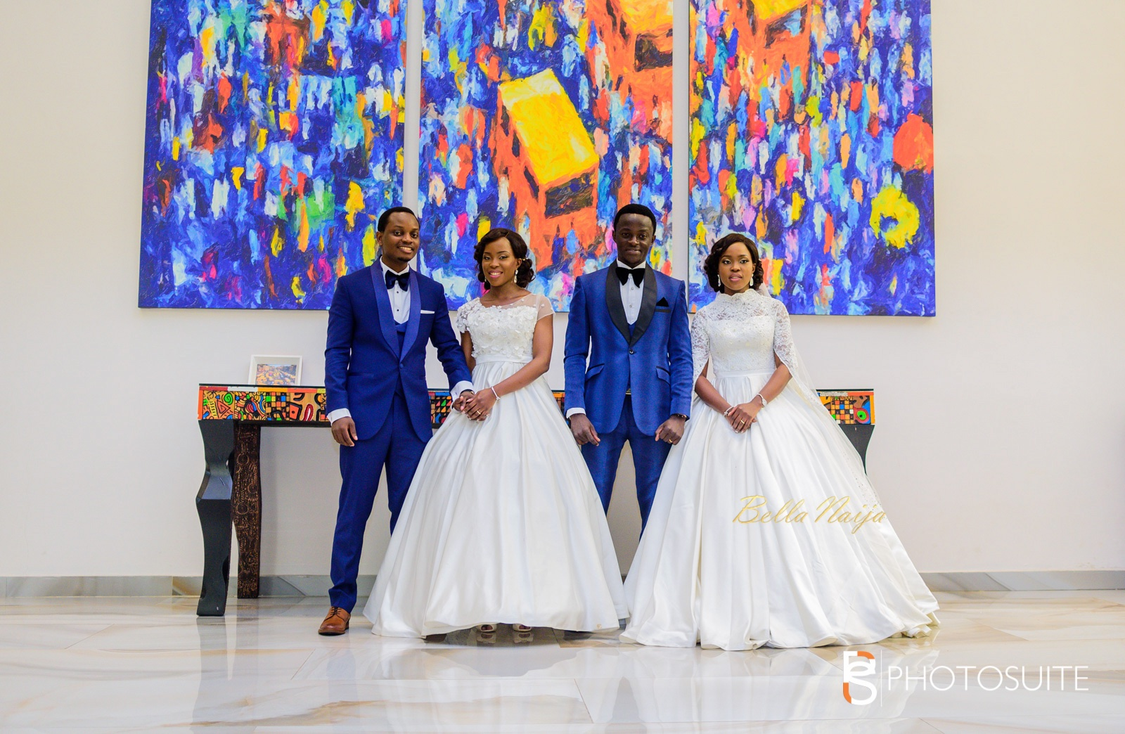 HOT!!!: Photos Of Twin Sisters Who Got Married On The Same Day To Their Sweethearts