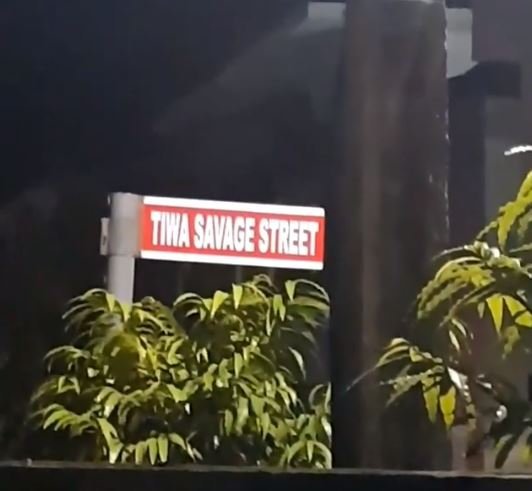 Wow: Just Like Tuface Idibia, Tiwa Savage Now Has A Street Named After Her In Lekki (Video)