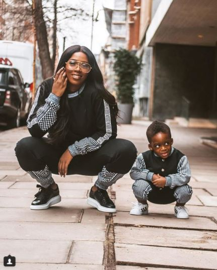 Tiwa Savage And Her Son Get Really Stylish In New Photos As They Rock Matching Outfits