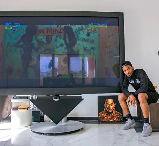 The Kokomaster, D'banj Shows Off His New Island Home... Checkout His Giant TV (Photos)