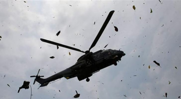 Horror: Passengers Dead On The Spot As Military Helicopter Crashes Inside Forest