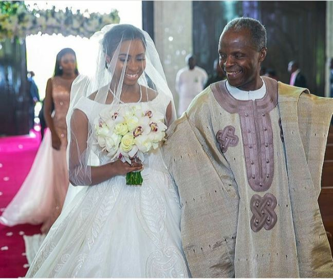 See The Moment VP Osinbajo Walked His Daughter Down The Aisle At Her Wedding (Photos)