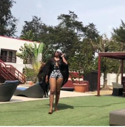 Nigerian Actress Lilian Esoro Stuns In Swimsuit (Photos)