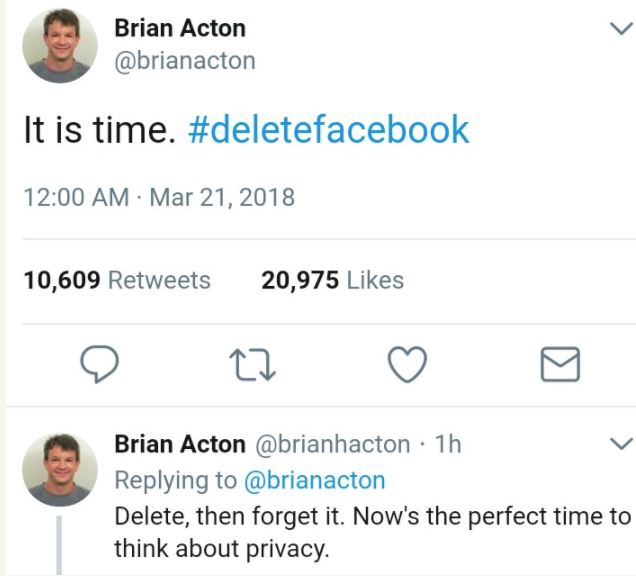It's Time To Delete Your Facebook Account - Brian Acton, Whatsapp Co-founder
