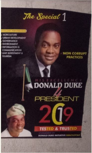 Donald Duke 2019 Presidential Posters Sighted In Lagos
