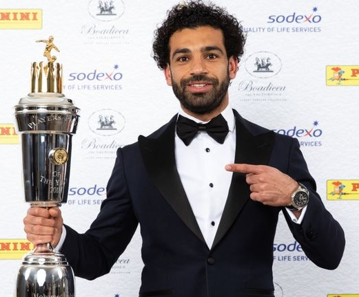 Liverpool Superstar, Mohamed Salah Wins International Award As Footballer Of The Year
