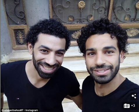 Liverpool Star, Mo' Salah Shocked To Meet Man Who Looks Exactly Like Him (Photos)