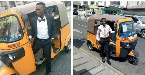 Image result for Corporate Keke Driver Customizes His Keke With Cups Of Sweets For Passengers