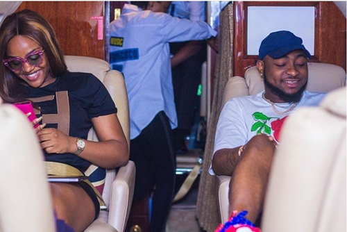 Davido And Chioma Fly Private Jet To Abuja Allegedly For Shoot Of Multi-million Endorsement Deal (Photos)