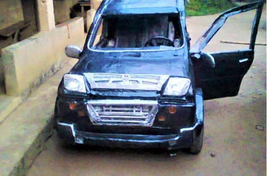 See The Car A Nigerian Manufactured For N80,000 (Photos)