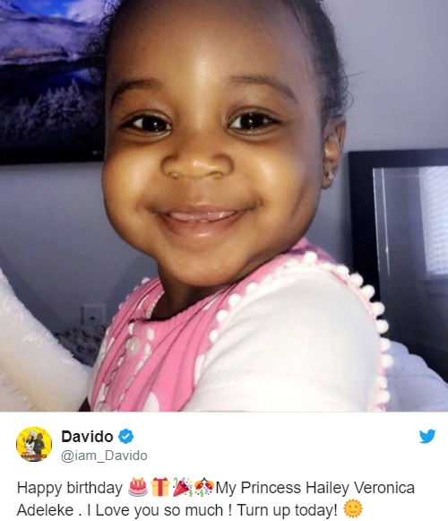 Davido Throws 1st Birthday Party For His 2nd Daughter, Hailey In Atlanta (Photos)