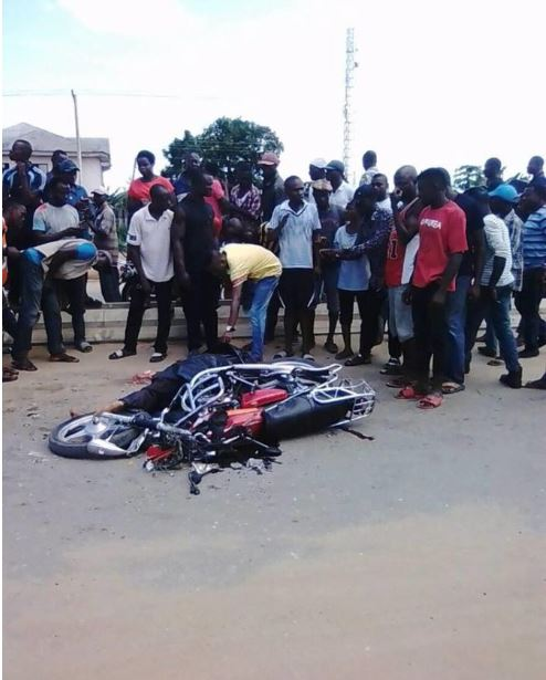 Graphic Photos Of Man Killed On The Spot After Fatal Bike