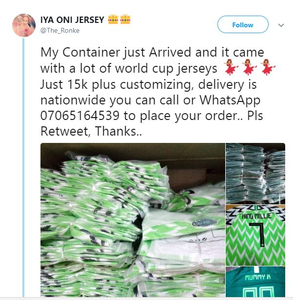 Like Seriously I Have Sold Over 3 000 Fake Super Eagles Jerseys