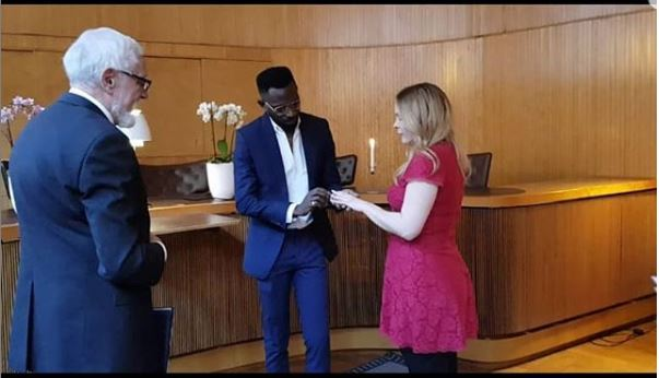 Singer, May D Marries His Oyinbo Partner, Carolina Wassmuth In Sweden