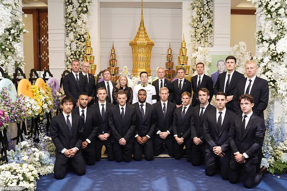 Leicester Players Pay Solemn Tribute To Club Owner During Funeral In Thailand