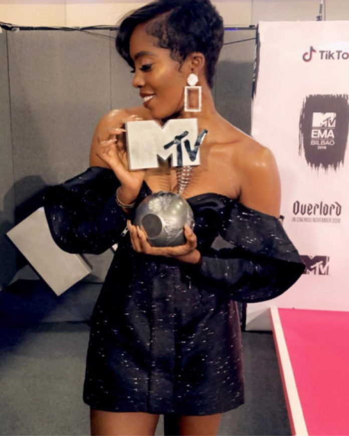 Tiwa Savage Becomes First Female To Win MTV Best African Act