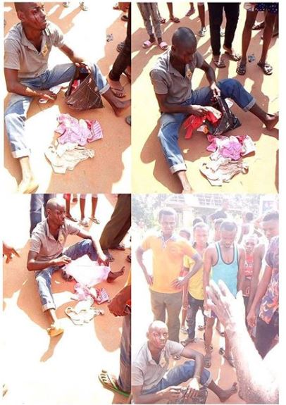 Man Caught Stealing Female Panties In Imo State