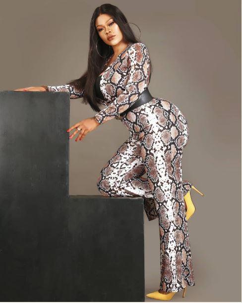 Daniella Okeke on Snake outfit