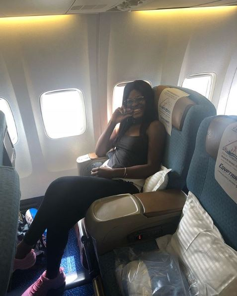 BBNaija: Alex Jets Out To Dubai In Style (Photos)