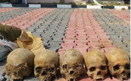 Husband And Wife, Three Others Arrested With 11 Human Skulls In Ilorin
