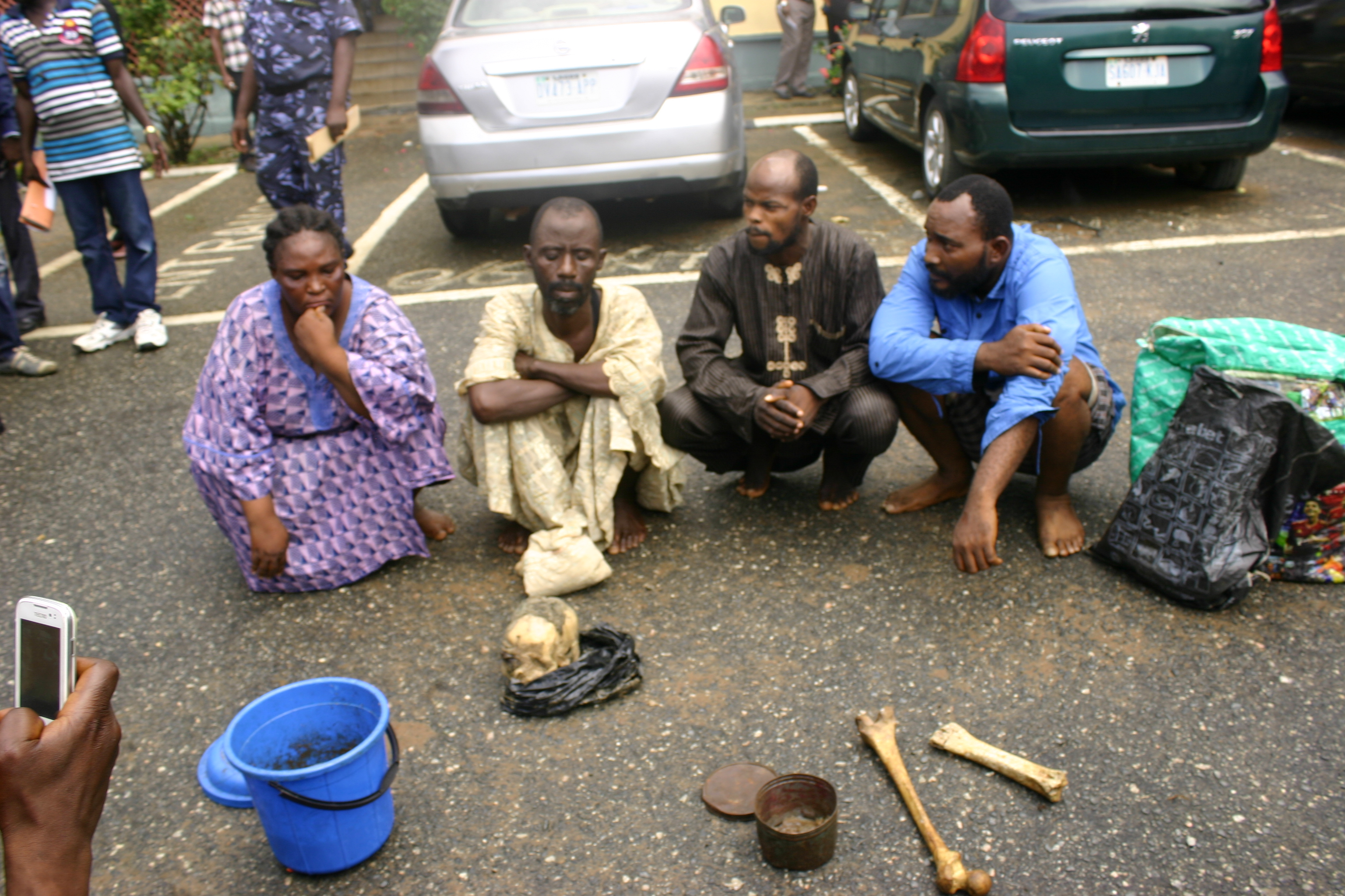 suspected ritualist with human parts.