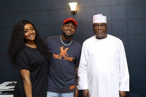 Atiku Abubakar, has played host to singer, Davido and his girlfriend, Chioma.