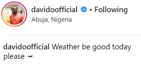 , Davido Pictured Inside Private Jet With His Girlfriend, Chioma Amidst Break-Up Rumours, See-naija