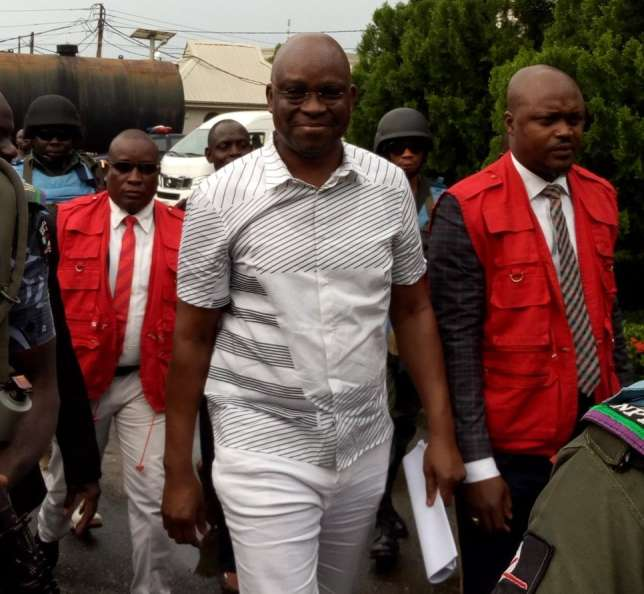 Fayose To Spend Weekend In EFCC Custody After Struggling To Meet Bail Condition