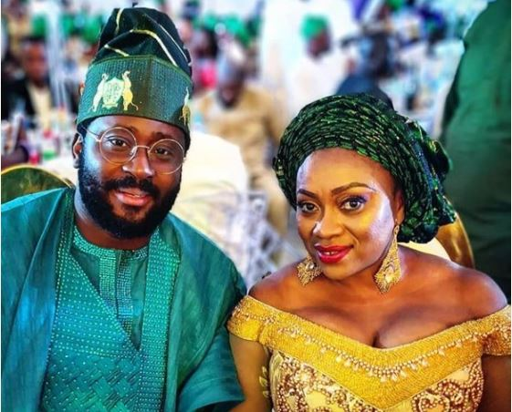 Desmond Elliot & Wife Step Out In Style For A Wedding In Lagos (Photos)