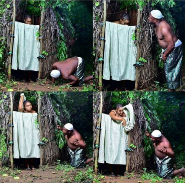 Man Seen Peeping At His Fiancee In The Bathroom In Pre-Wedding - Photos