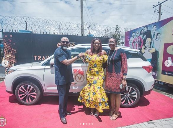 Nigerian musician and reality star, Bisola has finally gotten her brand new SUV