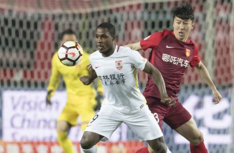 The Nigeria international continued his goal-scoring form in China