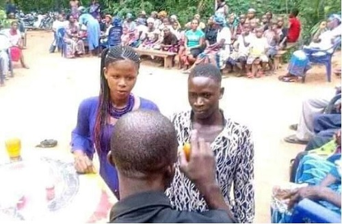 Teenage Boy Forced To Marry Young Lady After Impregnating Her (Photos)
