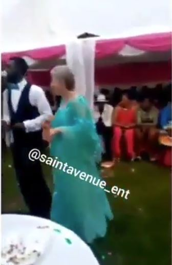 Marriage Video Of Young Nigerian Man And Elderly White Woman