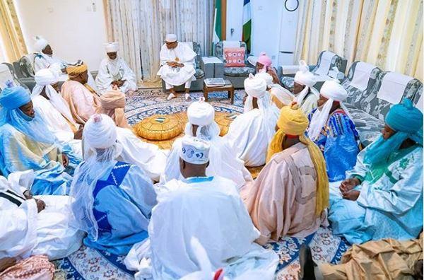 President Buhari and Daura title holders