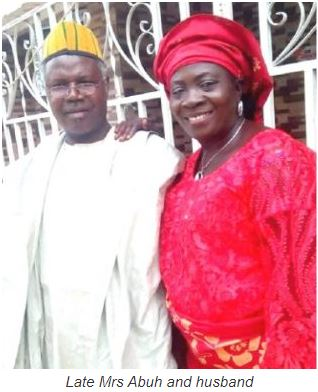 Mrs. Salome Acheju Abuh, husband