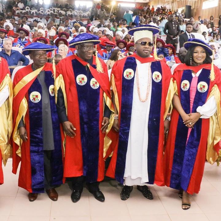 Omotola Jalade-Ekeinde and Goodluck Jonathan