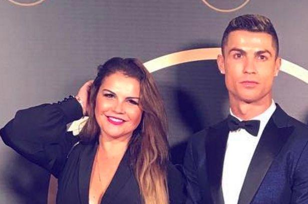 Cristiano Ronaldo and sister
