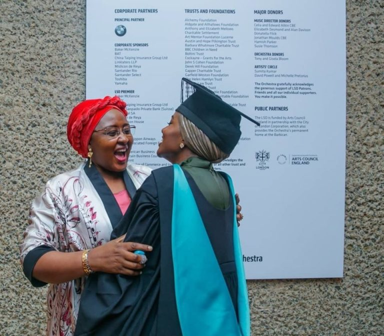 Hanan Buhari graduated with a first class from a UK University
