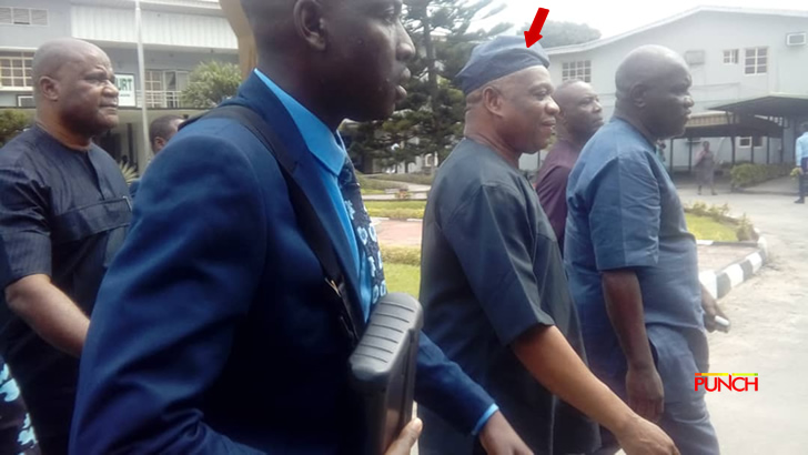 Orji Kalu being taken to holding cell after he was found guilty by court