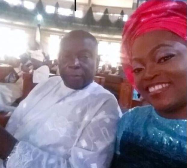 Funke Akindele and her father