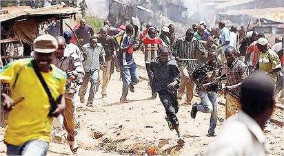 gunmen strike at football field