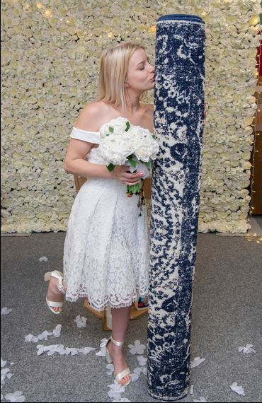 woman marries rug