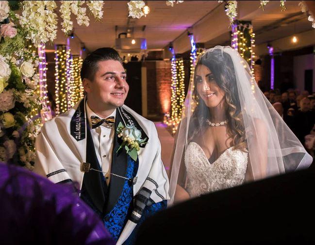 man buries wife in wedding dress